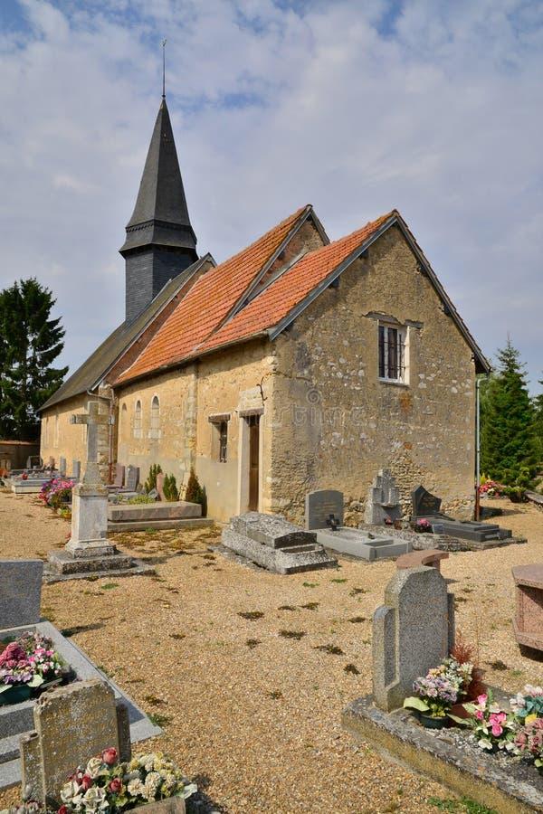 Frances, le village pittoresque de Caillouet Orgeville photographie stock libre de droits