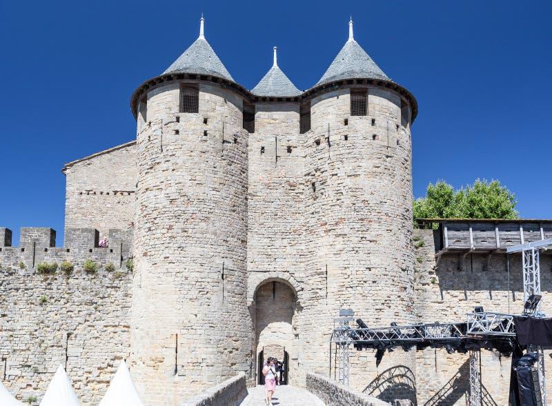 Frances médiévales de ville de Carcassonne photographie stock