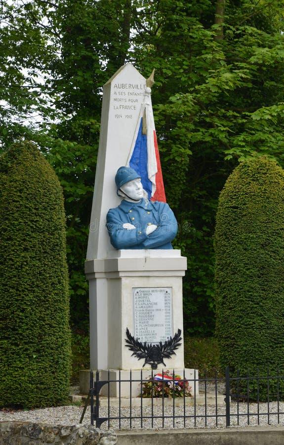 Frances, mémorial de guerre pittoresque d'Auberville au Calvados photo stock