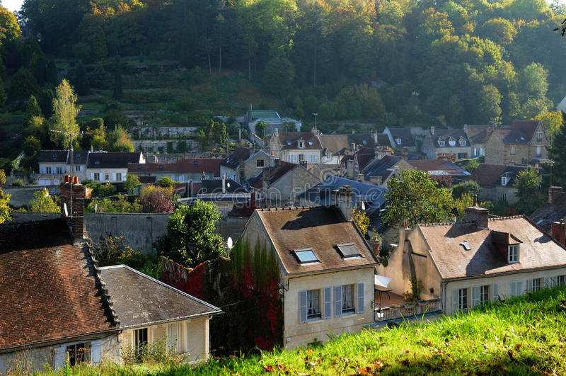 Frances, petite ville de Pierrefonds dans Picardie images stock