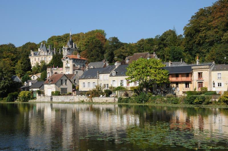 Frances, petite ville de Pierrefonds dans Picardie images libres de droits