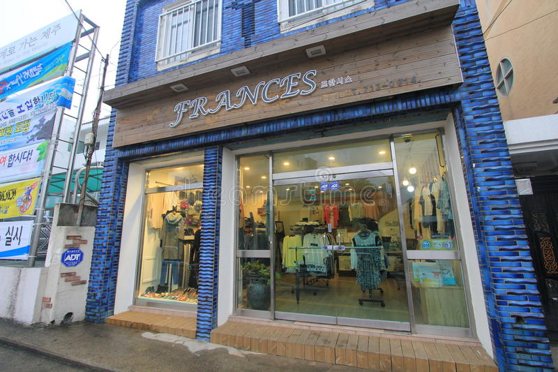 Frances shop in South Korea. Frances shop, located in Seoul, South Korea. frances is a clothes retailer in South Korea stock photography