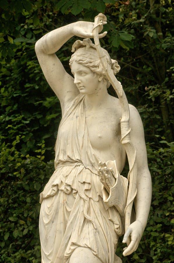 Frances, statue de marbre en parc de palais de Versailles photos libres de droits