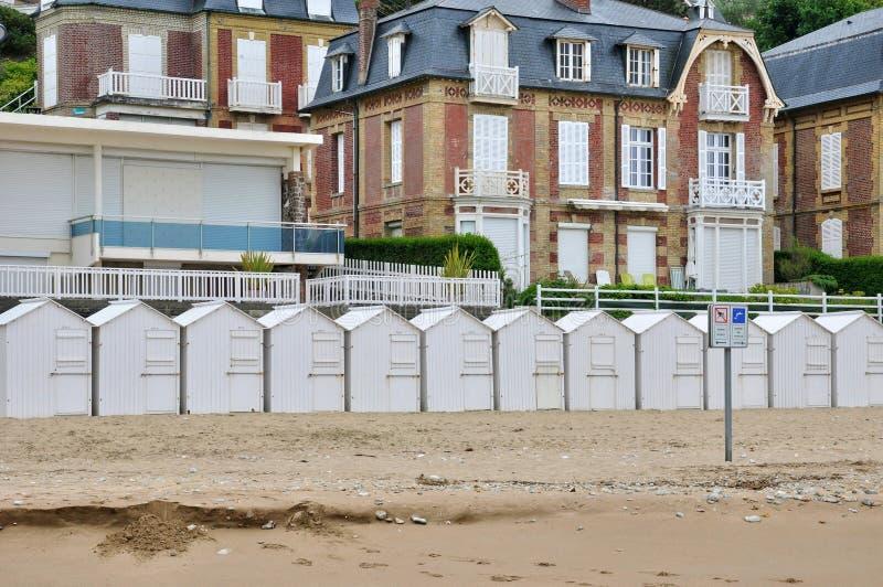 Frances, sur historique Mer de Villers de ville dans Normandie images libres de droits