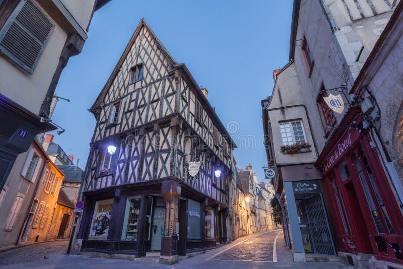 Frances typiques de rue de Bourges photographie stock