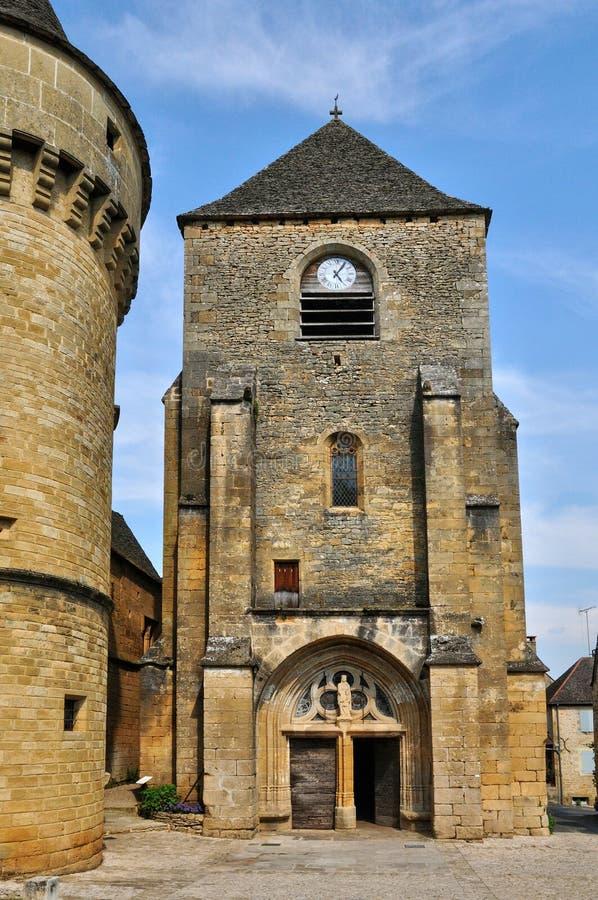 Frances, village pittoresque des Genies de saint dans Dordogne photographie stock libre de droits