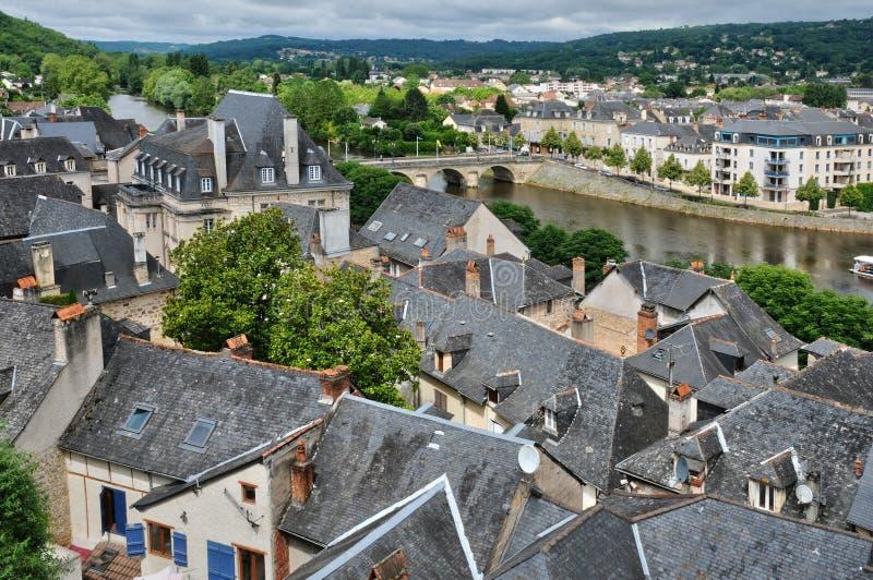 Frances, ville de Terrasson Lavilledieu dans Dordogne photo libre de droits