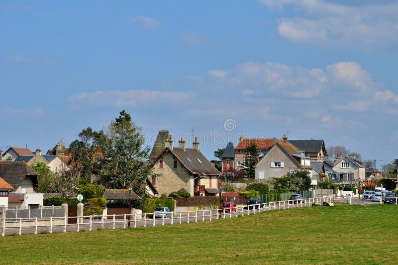 Frances, ville pittoresque de mer de sur de St Aubin dans Normandie photo libre de droits
