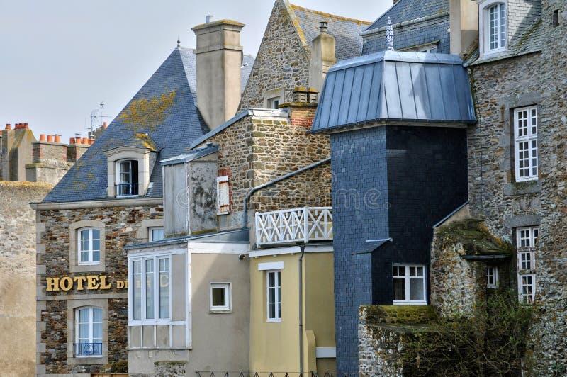 Frances, ville pittoresque de Saint Malo dans la Bretagne photos libres de droits