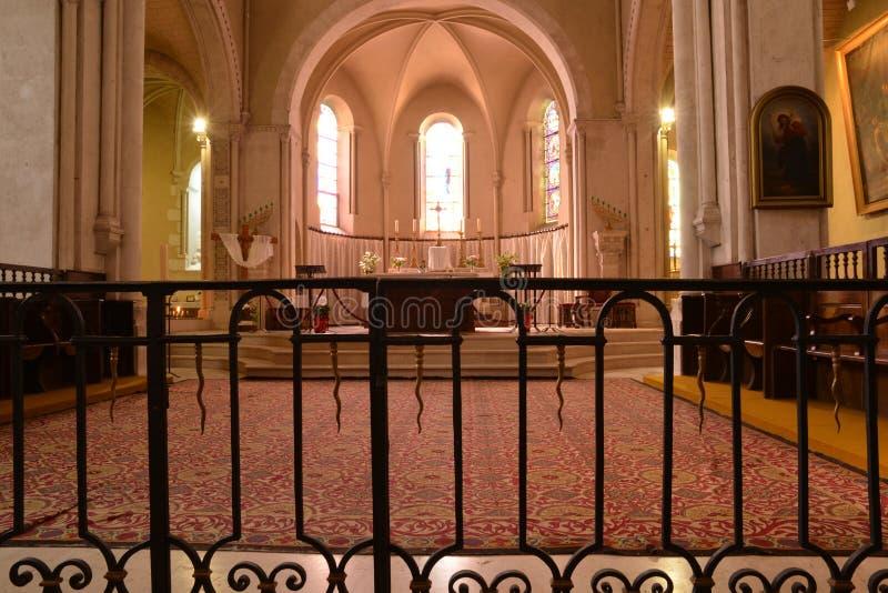 Frances, ville pittoresque de Sancerre dans Cher image libre de droits