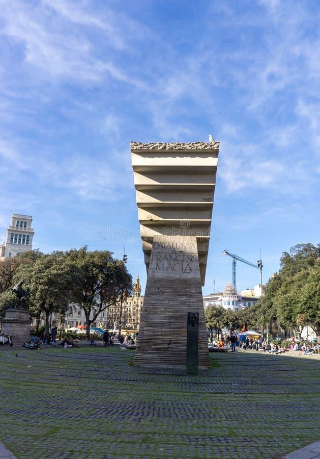 Francesc Macia纪念碑 库存图片