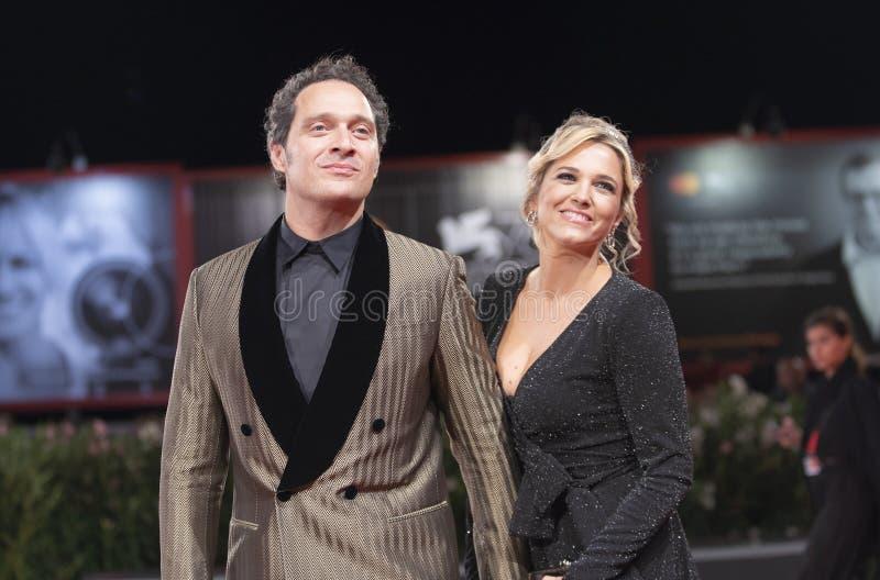 Francesca Barra and Claudio Santamaria royalty free stock photos