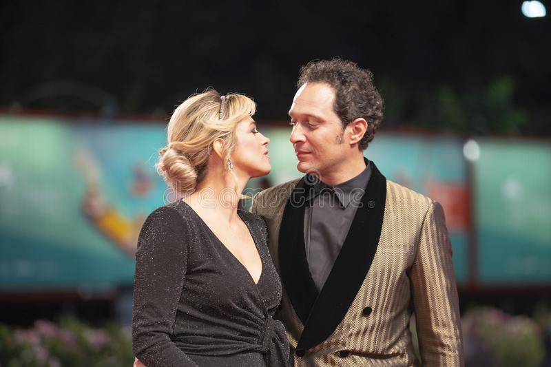 Francesca Barra and Claudio Santamaria royalty free stock image