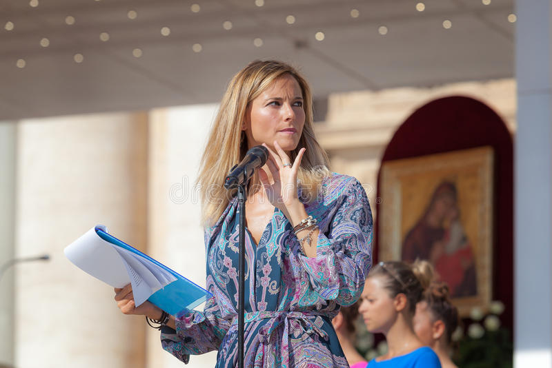 Francesca Fialdini, televisiva van giornalistae presentatrice stock fotografie