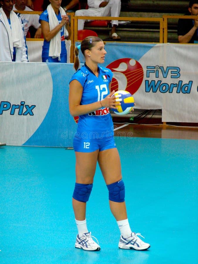 Francesca Piccinini, equipe italiana do voleibol imagens de stock