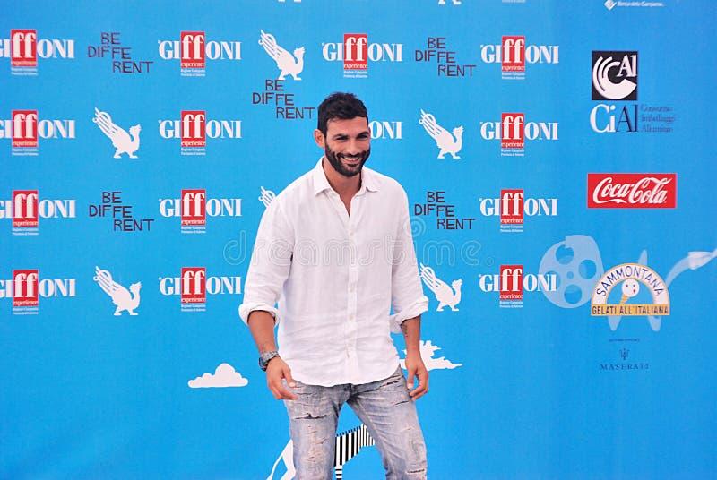 Francesco Arca al Giffoni Film Festival 2014 fotografia stock libera da diritti