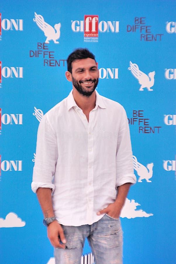 Francesco Arca al Giffoni Film Festival 2014 fotografia stock
