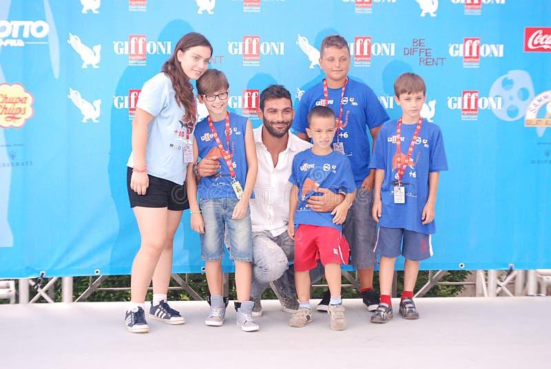 Francesco Arca al Giffoni Film Festival 2014 immagini stock