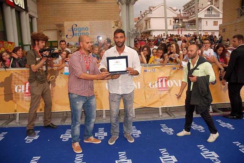 Francesco Arca al Giffoni Film Festival 2014 immagini stock libere da diritti