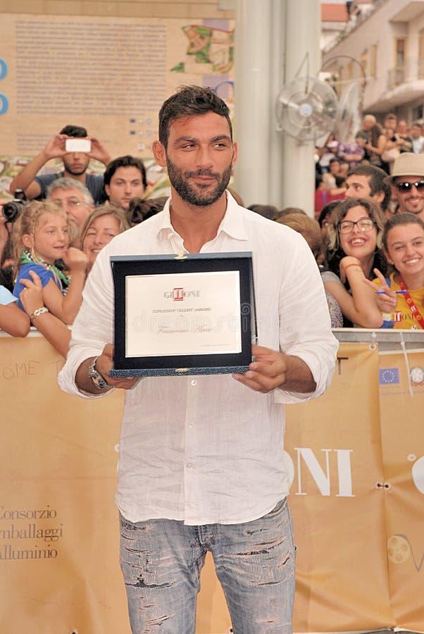 Francesco Arca al Giffoni Film Festival 2014 immagine stock libera da diritti