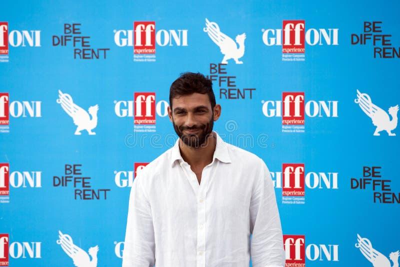 Francesco Arca nel festival cinematografico di Giffoni fotografia stock libera da diritti
