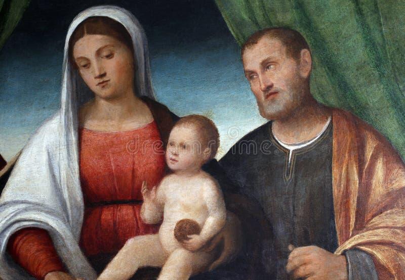 Francesco Bissolo: Famiglia santa fotografie stock libere da diritti