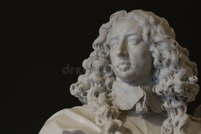 Francesco I d`Este portrait, Gian Lorenzo Bernini, Estense Gallery, Modena, Italy. Francesco I d`Este portrait, marble of Gian Lorenzo Bernini, Modena royalty free stock photography
