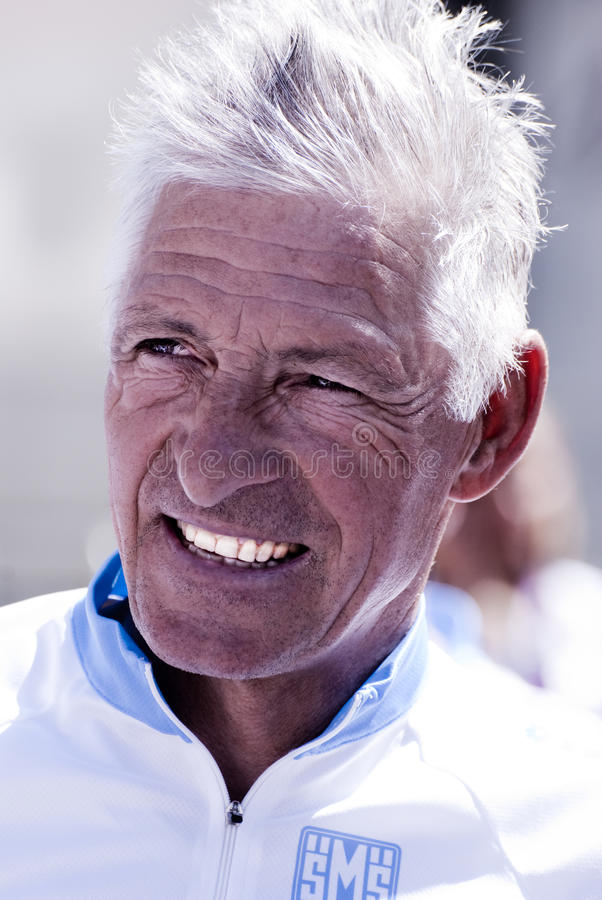 Francesco Moser royalty free stock photo