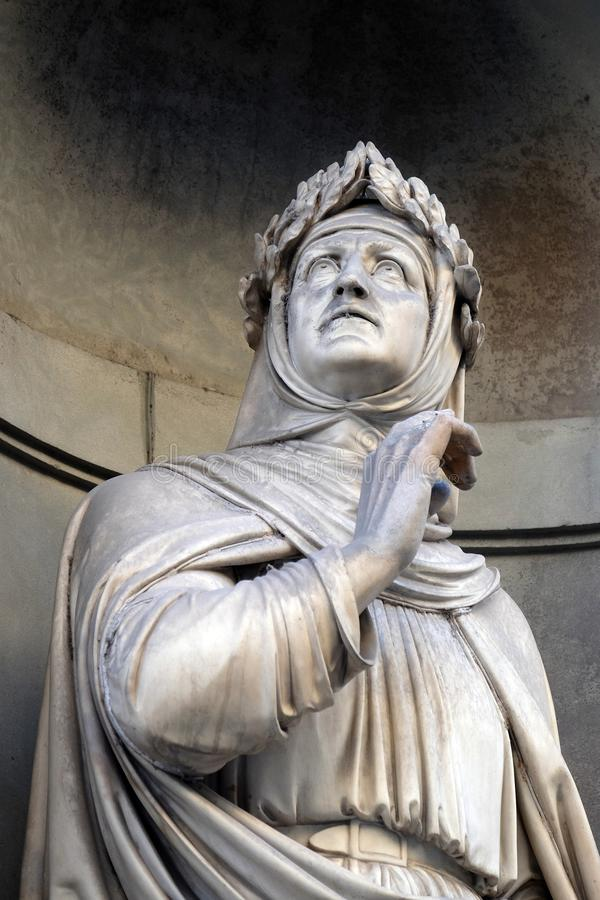 Francesco Petrarca στις θέσεις της κιονοστοιχίας Uffizi στη Φλωρεντία στοκ εικόνα με δικαίωμα ελεύθερης χρήσης