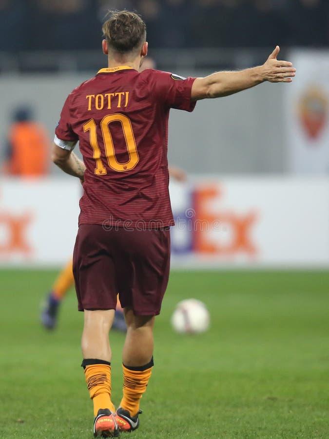 Francesco Totti bakifrån royaltyfri bild