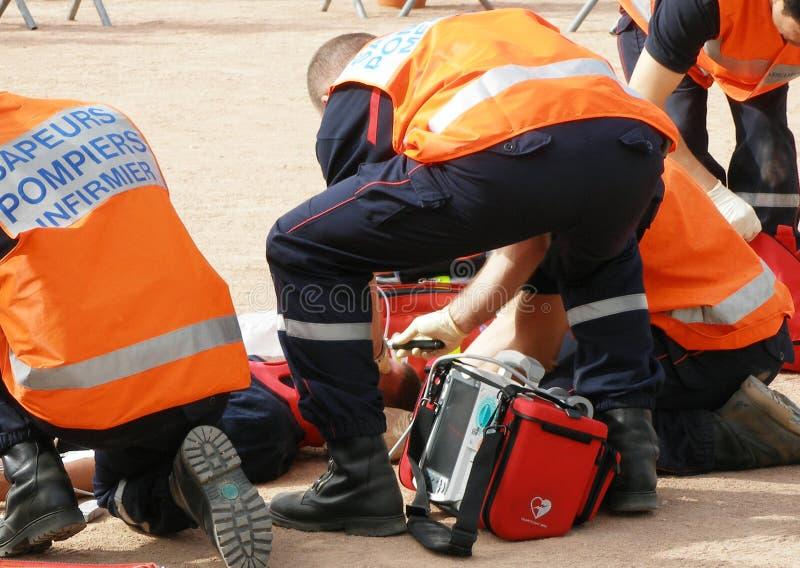 Francese del vigile del fuoco immagini stock libere da diritti