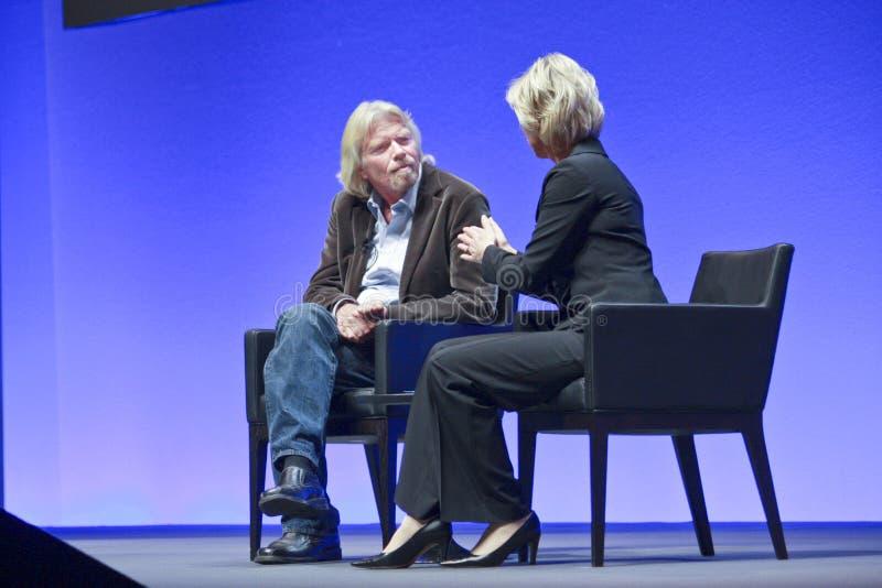 FRANCFORT, ALLEMAGNE - 17 MAI : Richard Branson photos libres de droits