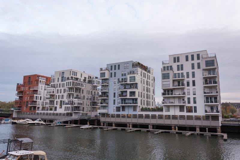 FRANCFORT, ALLEMAGNE - 28 octobre 2017 : Appartements chers à images libres de droits