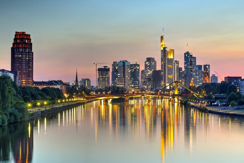 Francfort et principal, Allemagne images stock