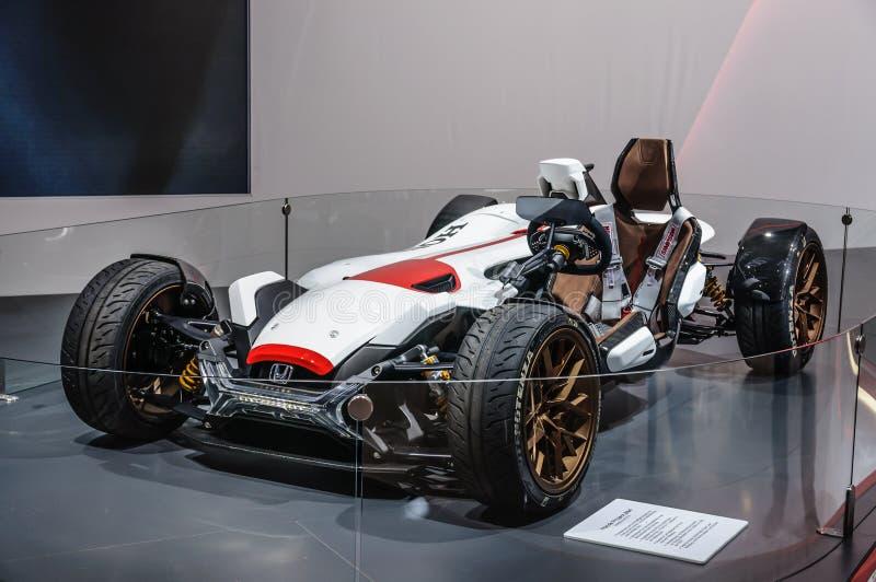 FRANCFORT - SEPT. DE 2015: El proyecto 2 y de Honda el concepto 4 presentó en IA foto de archivo