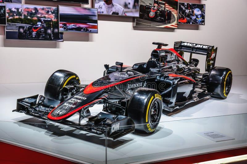 FRANCFORT - SEPT. DE 2015: Fórmula 1 F1 de Honda presentado en IAA internacional imágenes de archivo libres de regalías