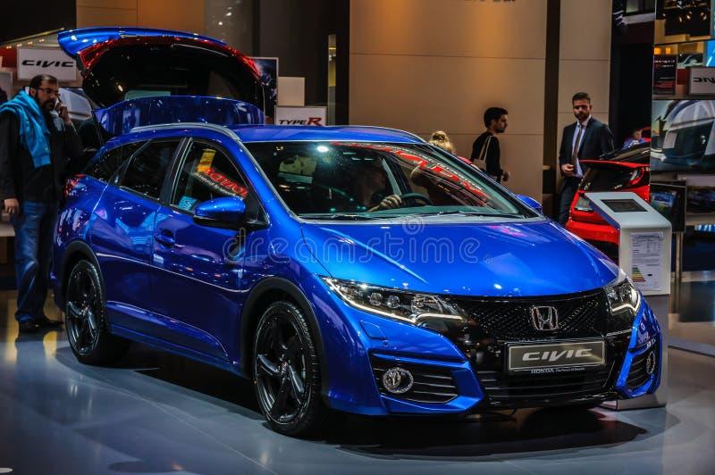 FRANCFORT - SEPT. DE 2015: Honda Civic presentó en IAA Internationa fotografía de archivo