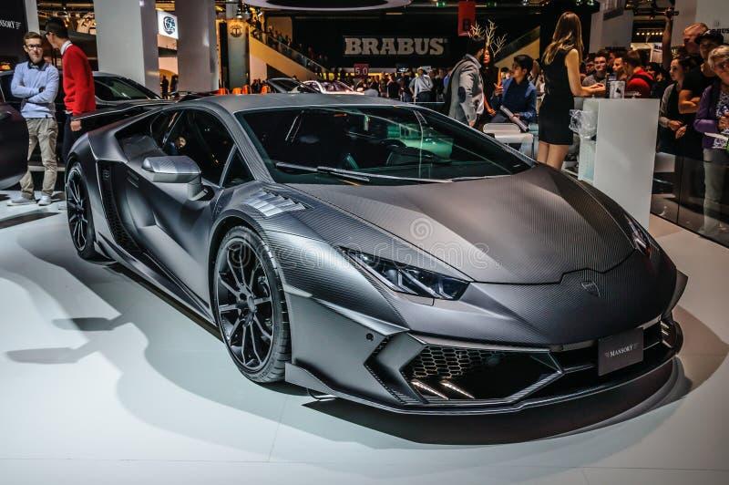 FRANCFORT - SEPT. DE 2015: MANSORY TOROFEO Lamborghini Huracan prese foto de archivo libre de regalías