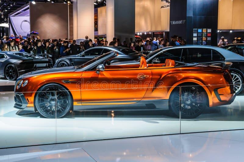 FRANCFORT - SEPTEMBRE 2015 : Mansory Bentley Continental GTC présent photos libres de droits