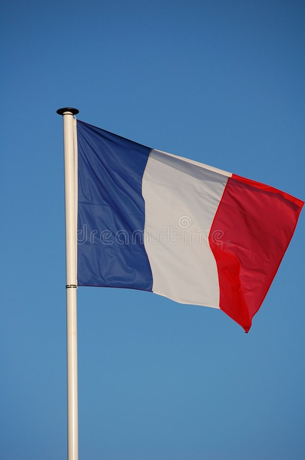 Franch flag stock photo