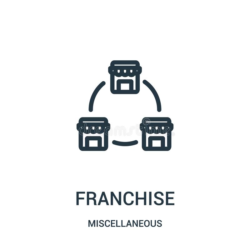 franchise icon vector from miscellaneous collection. Thin line franchise outline icon vector illustration. Linear symbol for use vector illustration