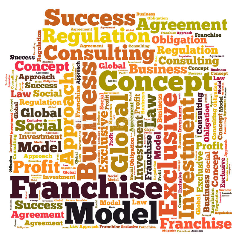 Franchise Word Cloud Stock Illustration Illustration Of Exclusive