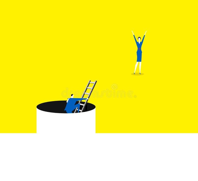 Franchissement de l'adversité illustration de vecteur