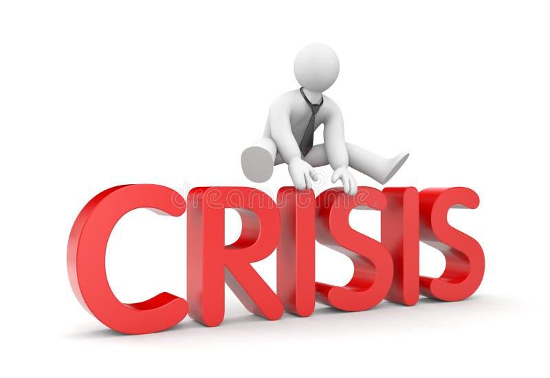 Franchissement de la crise illustration stock