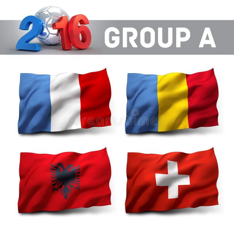 Francia 2016 calificadores stock de ilustración