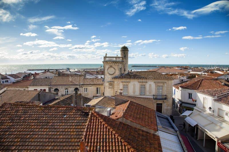 Francia, Camargue, Saintes-Maries-de-la-Mer foto de archivo libre de regalías