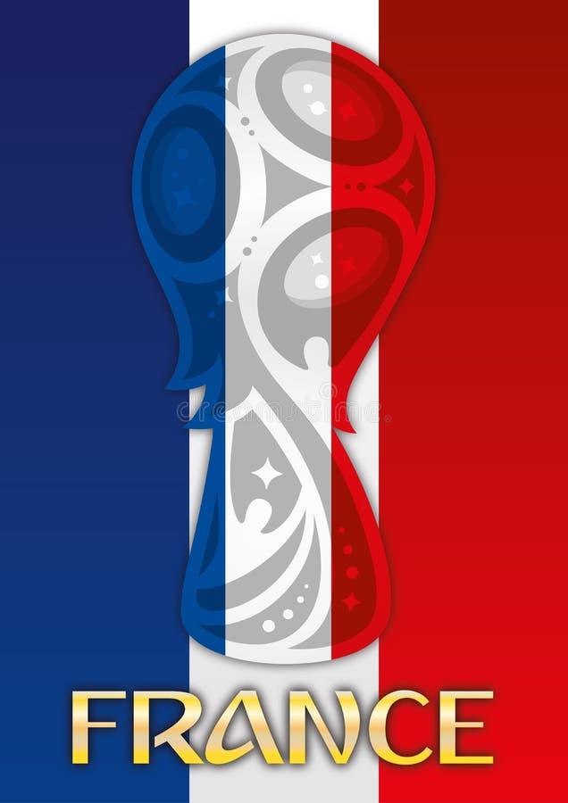 Francia, campeón del mundo del finalista, Rusia 2018, semi finales ilustración del vector