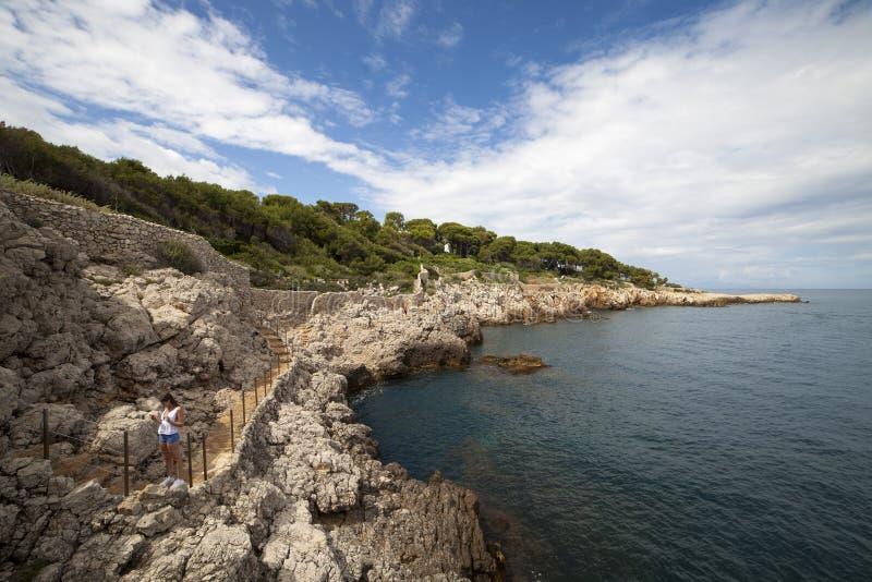 Francia, costa azul, Antibes imagenes de archivo