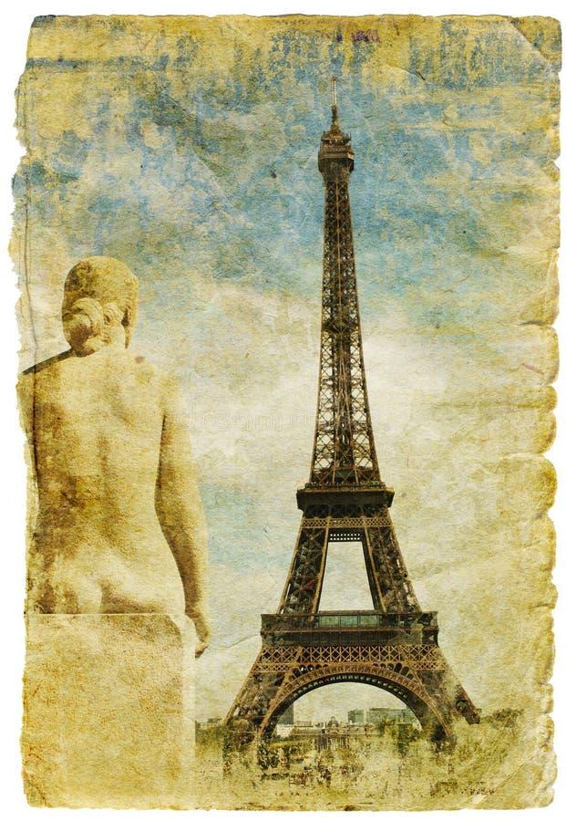 Francia - cuadro retro del estilo stock de ilustración