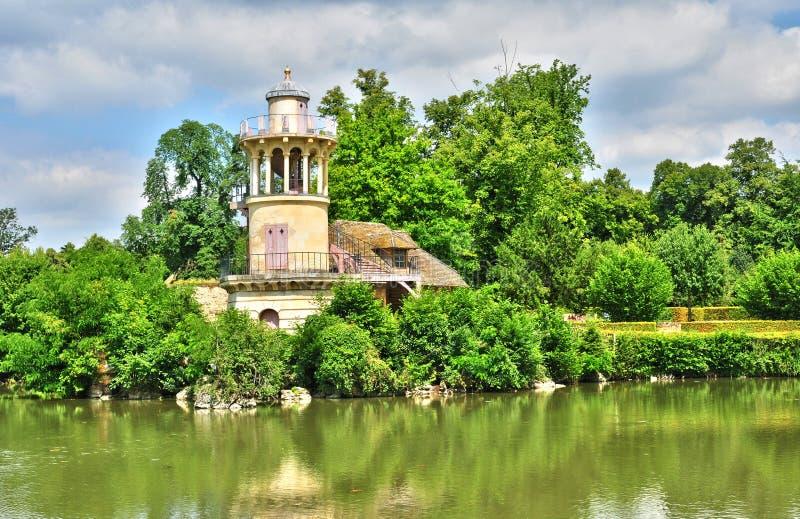 Francia, el estado de Marie Antoinette en el parc del PA de Versalles foto de archivo
